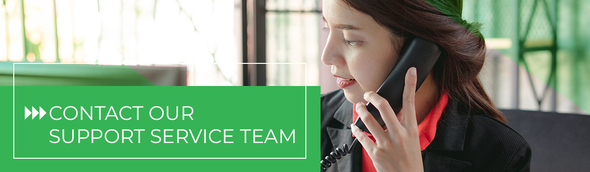 person on the phone contacting a support team